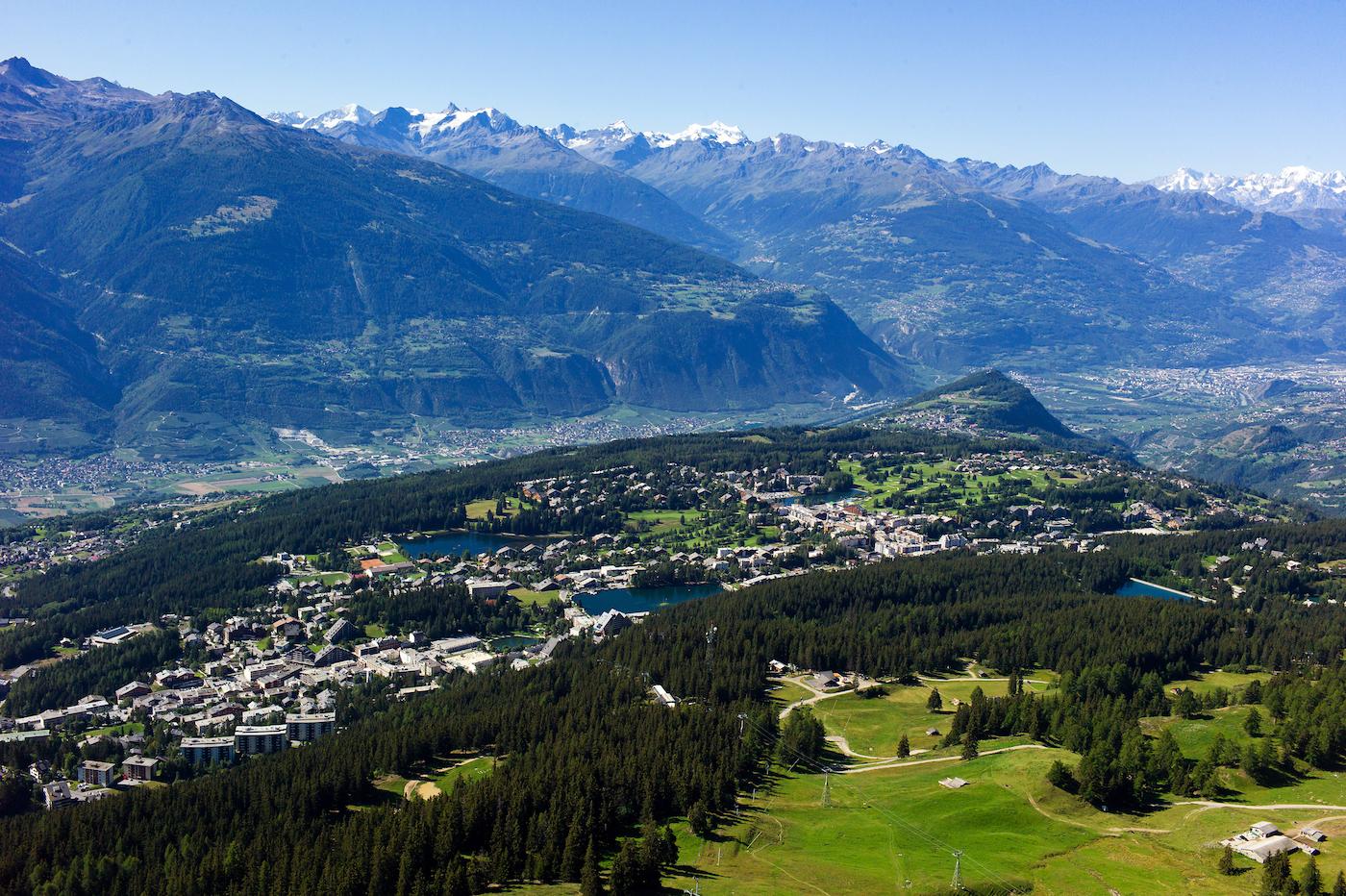 Panorama di Crans-Montana - foto Crans-Montana Tourisme & Congrès/Olivier Maire