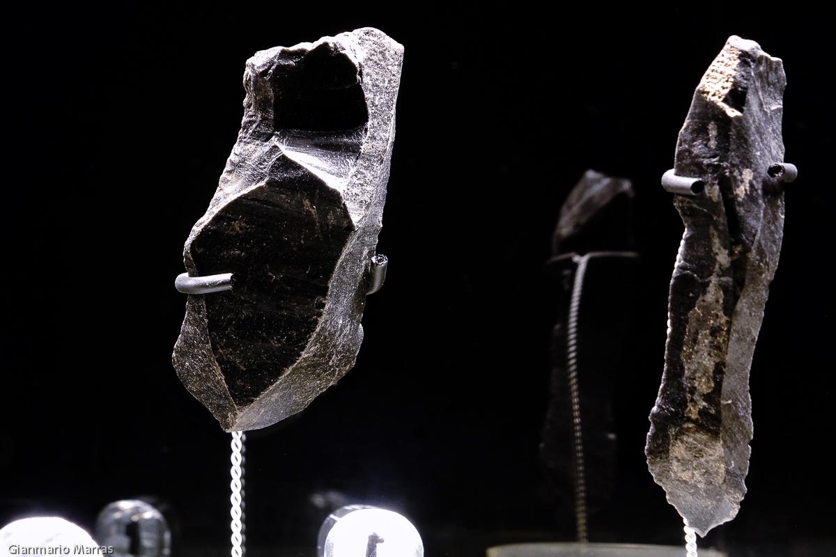 Pau - Frammenti di ossidiana al Museo dell'Ossidiana
