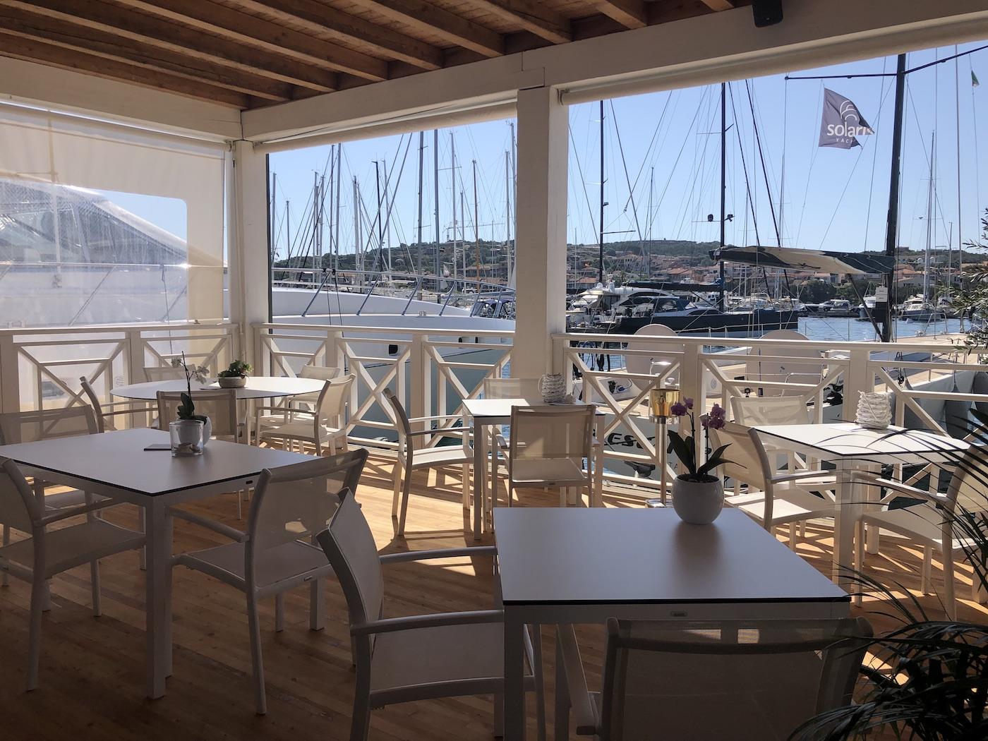 Il ristorante dello Yacht Club Porto Rotondo