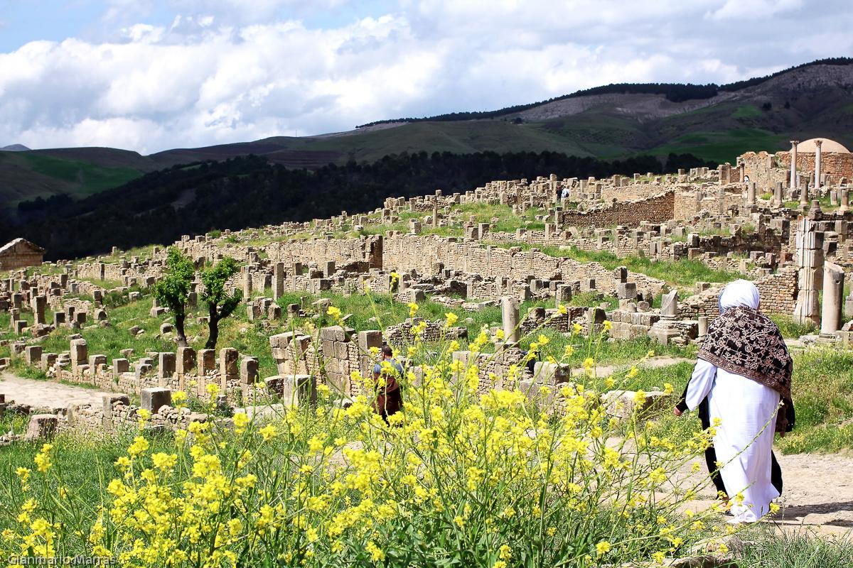 Algeria- Djémila, costruita nel I sec. fu abbandonata dopo la caduta dell'Impero Romano