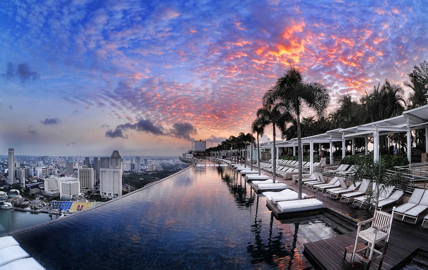 Lo Sky Park sulla cima del complesso Marina Bay Sands - foto Andrew Tan